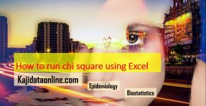 chi square using microsoft excel for outbreak investigation